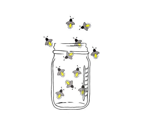Výsledek obrázku pro tumblr fireflies draw