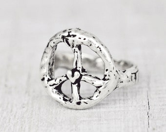 Peace Ring - Peace Sign Jewelry -R311