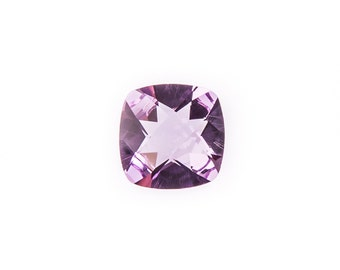 Natural Brazilian Purple Amethyst Gemstone Checker Cushion Size 7 mm, 10 mm