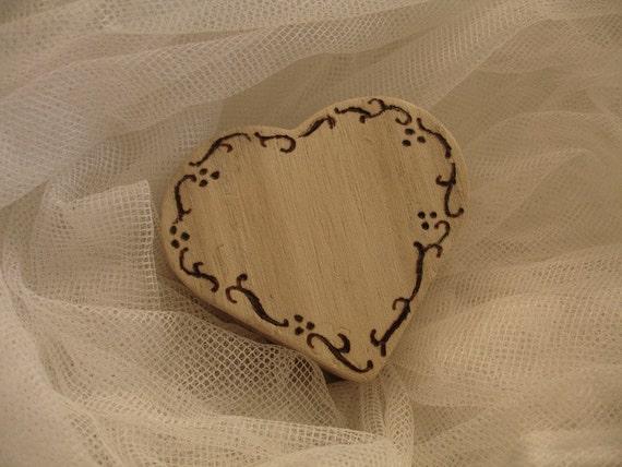 Wooden heart shape ring box handmade wooden heart ring box for Heart ring box