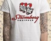 Stromberg 97 Equipped T-shirt V8 Drag Racing White T-Shirt M L XL 2XL