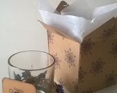 Christmas Gift, Tea Light Holders with Purple Flowers