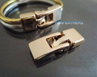 Rose Gold Toggle Clasp 7mm X 2.5mm - 1 Set Finding Plastic End Cap Toggle Clasp Clousure Fastener Buckle ( Inside 7mm x 2.5mm Diameter )
