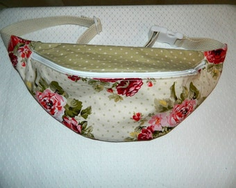 Fanny Pack - Hip Bag - Women and Teen Girls Hip Pouch - Shabby Chic