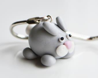 Rabbit Bookmark, Fimo, Polymer Clay