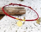 Wish bracelet, Friendship bracelet, Red string bracelet