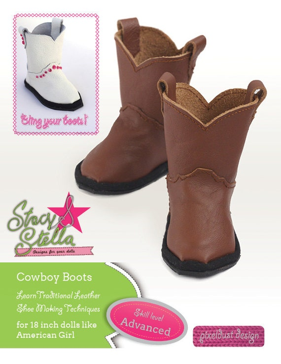 American Girl Doll Cowboy Boots Sewing Pattern