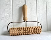 Rolling pin textured pricker vintage Swedish kitchen utensil farmhouse - GrannyHannasCottage