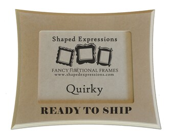 READY TO SHIP - 5x7 Quirky - unfinished picture frame