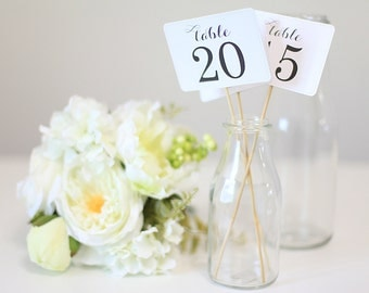 Table Numbers, Wedding,  Decoration, Vintage theme, Shabby Chic theme