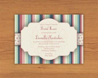 Garden Party Bridal Shower Invitation *Printable File*