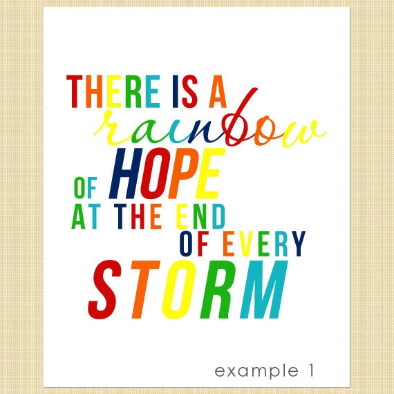 There is a Rainbow of Hope at the End of Every Storm - Rainbow Baby - Digital listing - PRINT YOURSELF