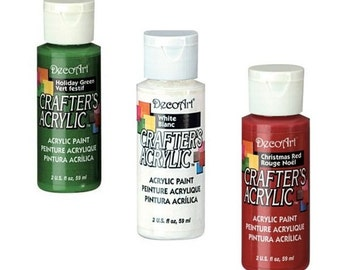 Christmas Paint Set (Green, Red & White)