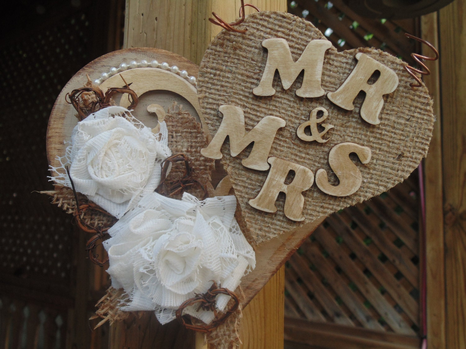 burlap and lace wedding cake toppers wedding cake topper rustic burlap and lace by 12254