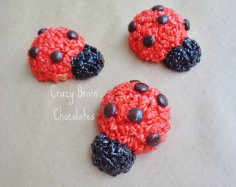 Lady Bug Rice Krispie Treats (12)