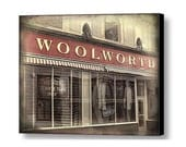Civil Rights Historical Building Woolworths Downtown Greensboro NC Sit-In Gallery Wrap Canvas Photography Art Free Shipping USA