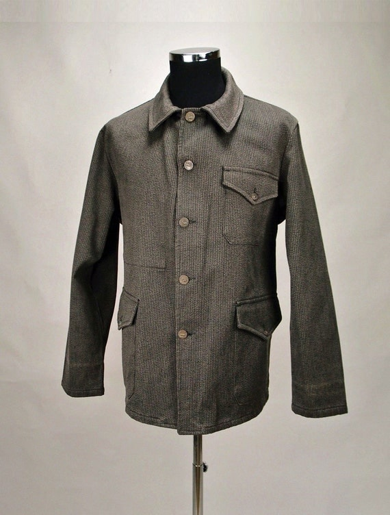 1940's French Salt Pepper Hunting Jacket. Mint Condition.