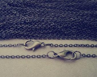 """20pcs 17inch antique bronze (copper )"""" 0"""" shape Link  chain 1.5mm"""