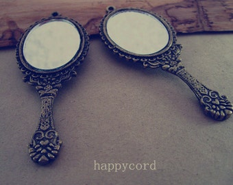 4pcs of antique Bronze mirror Charms 30mmx72mm