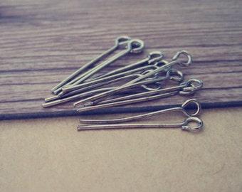 400 pcs White K eye pins 22mm