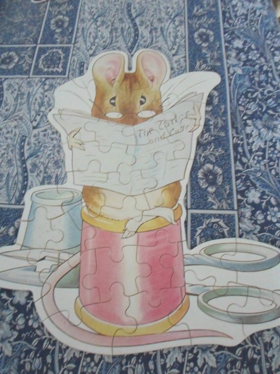 Sweet Collectible Beatrix Potter Jigsaw Puzzle The Tailor of Gloucester Easter Decor
