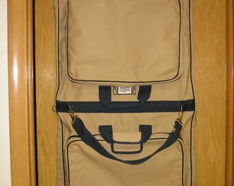 """vintage """"High Sierra"""" canvas garment bag/suitcase - excellent condition"""