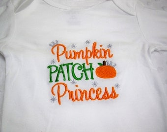 Halloween Baby Outfit - Pumpkin Patch Princess - Baby Girl Halloween Bodysuit - Baby's First Halloween