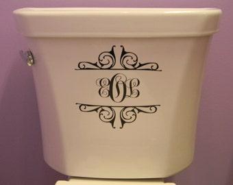 Toilet Monogram Decal
