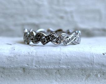 Vintage Platinum Diamond Wedding Band.