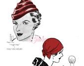 1930s Turban Hats - 2 Sewing patterns PDF 1039