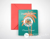 Destination Wedding: Cruise Ship Travel Themed Invitation Passport - Sample