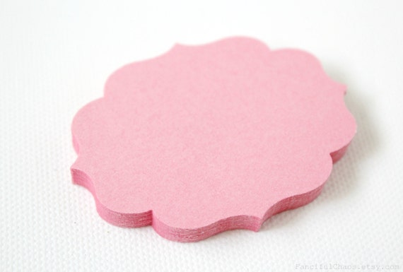 50 Purple Pink White Bracket Labels Gift Tag Escort