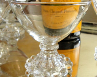 7 Vintage Champagne Coupes Set of 7 Vintage Boopie Cocktail Glasses