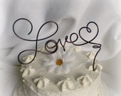 Wedding Cake Topper, Rustic Fall Decor, Choose Your Size