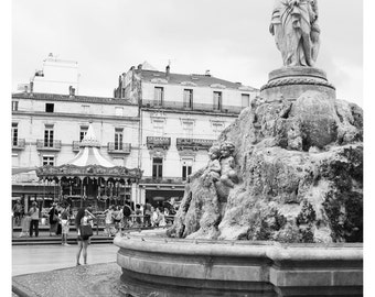 Fountain Place de la Comedie Montpellier France Photo Print