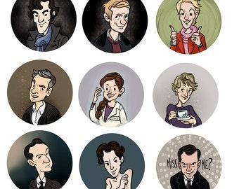 BBC Sherlock 1 Inch Button