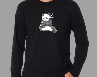 Men's Long Sleeve T-shirt - Created using a list of 37 popular animals on the endangered species list