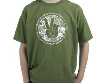 Boy's T-shirt - Created using the words Make Love Not War