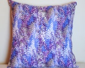 """fractal wave pattern print cotton fabric pillow cover 18"""""""