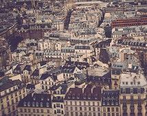 Paris Photography | Cityscape Aerial View | Streets of Paris | From Notre Dame | Wall Art | Home Decor | Architecture Buildings