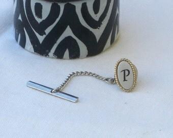"""Tie Tack - """"P""""- Vintage"""