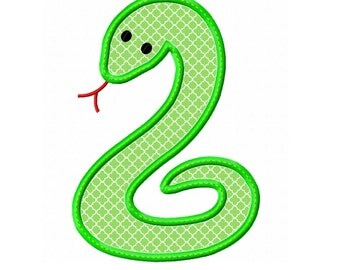Snake Applique Machine Embroidery Design 4x4 5x7 6x10 INSTANT DOWNLOAD