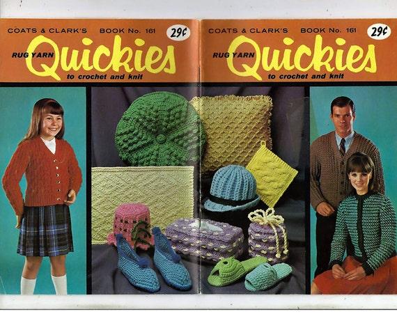 Teppich Garn Quickies zu stricken und häkeln Muster Buch
