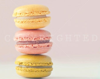 colorful macaroons color print (5x5)