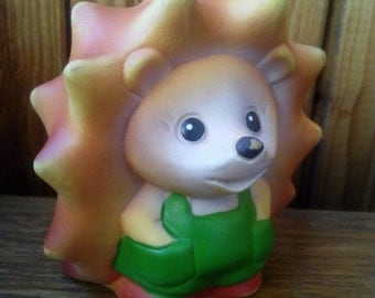 vintage rubber toy - crew cut, a character of Soviet children's cartoon. Made in the USSR