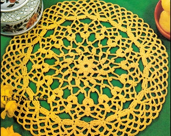No.322 Doily Crochet Pattern PDF Vintage - Flowerbud Doily - Retro Crochet Pattern - Instant Download