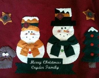 Tree Skirt, Christmas Tree Skirt, Character Tree Skirt, Personalized Tree Skirt, Tree Skirt with Name, Family Tree Skirt