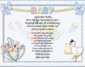 NEW!! 4 Newborn Personalized Gift Keepsake.