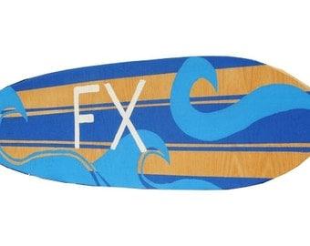 Surf Nursery Decor, 4 ft Personalized Surf Board Sign, Boys Beach Nursery Decor, Surfboard with Family Name SIgn, Custom Beach Sign