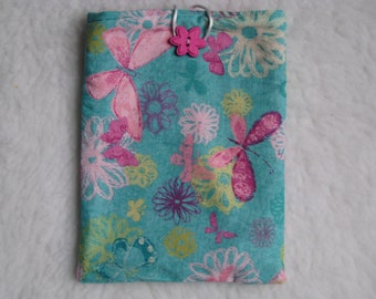 SALE - Floral Print Nook HD Case - Fabric Nook HD Sleeve - Kindle 3 - Ready to Ship!!!